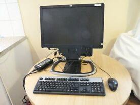 "Job Lot of 10 HP Compaq 8000 Elite Ultra Slim Desktop Computer with 19"" LCD Monitor Ideal Export"