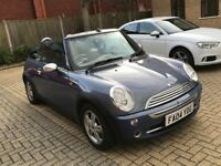 MINI ONE 1.6 CONVERTIBLE CABRIOLET PETROL MANUAL 4 SEAT BLUE N 1 SERIES GOLF FOCUS COOPER