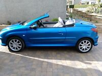 Convertible 206cc stunning low mileage car only 16k miles from new.