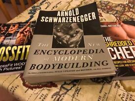 Fitness books Arnold Schwarzenegger's encyclopedia cross fit shredded chef book