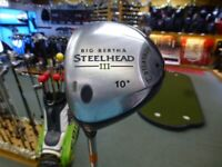 Used - Callaway Big Bertha Steelhead iii LEFT Handed 10° Driver - Steel Shaft