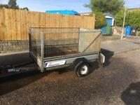 Indespension trailer 6x4 caged, ramp