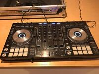 Pioneer DDJ-SX Controller with flight case and sound system