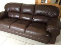 3Seater leather sofa (brown) £80