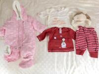Winter clothes bundle- Girls 0-3 months