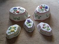 Selection of pretty china moulds