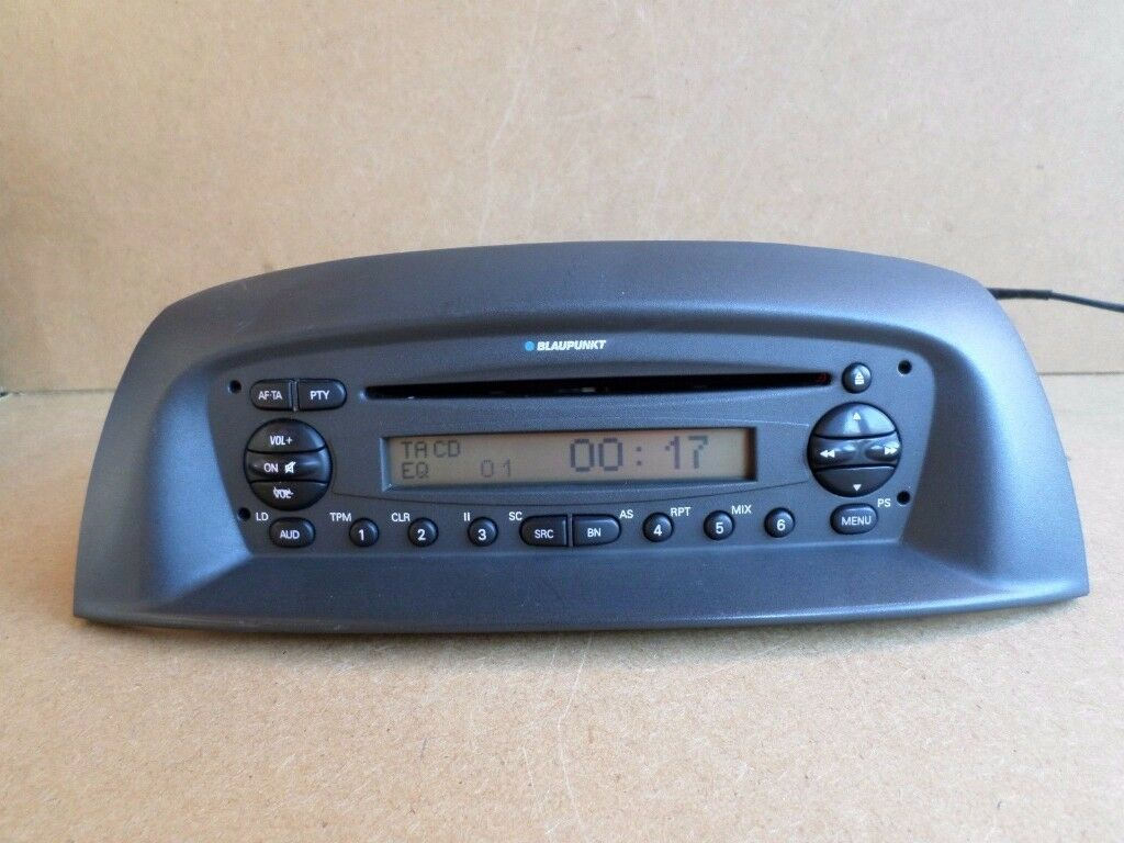 Fiat Punto Car Radio Stereo Cd Player With Code Made By Blaupunkt Head Unit