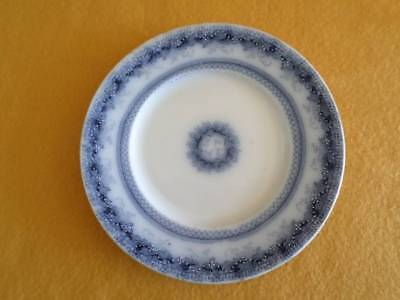 """J & G MEAKIN CHAPLET BREAD & BUTTER PLATE 7"""" ENGLAND WHITE WITH BLUE SCROLLS"""