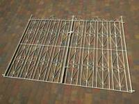 Iron driveway gates 9ft x 6ft approx