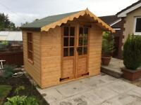 6x8 SUMMER HOUSE (HIGH QUALITY) £879 ANY SIZE (FREE DELIVERY AND INSTALLATION)