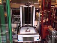BRAND NEW FASTFOOD TWO BURNER COMMERCIAL SHAWARMA GRILL DONER KEBAB MACHINE CATERING RESTAURANT