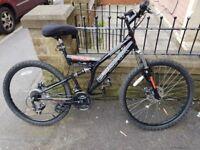 Bronx Bolt Mens 26in Wheel 21 Speed Dual Suspension Mountain Bike
