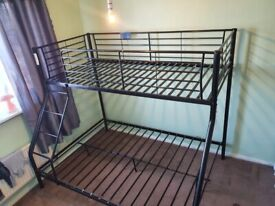 Black triplet bunk bed double and single £80
