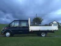 2010 ford transit double cab pick up t350l d/c 140bhp top spec 1 owner from new £6795 no vat