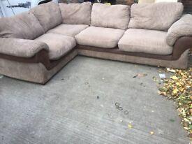 Chunky cord corner sofa