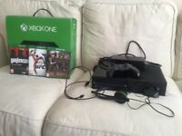 Xbox one with a controller and 3 games