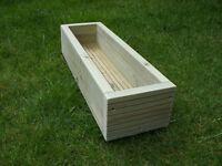 NEW - handmade quality decking garden planter / trough / herb - 55cm - heavy duty