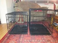 2 Dog Crates, 1 Small Hamster Cage & 1 2 tier Gerbil/Hamster Cage