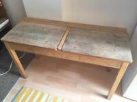 Old double school desk for kids / children