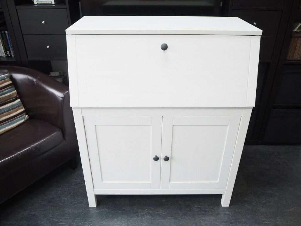 White bureau ikea hemnes bureau with top shelving unit great