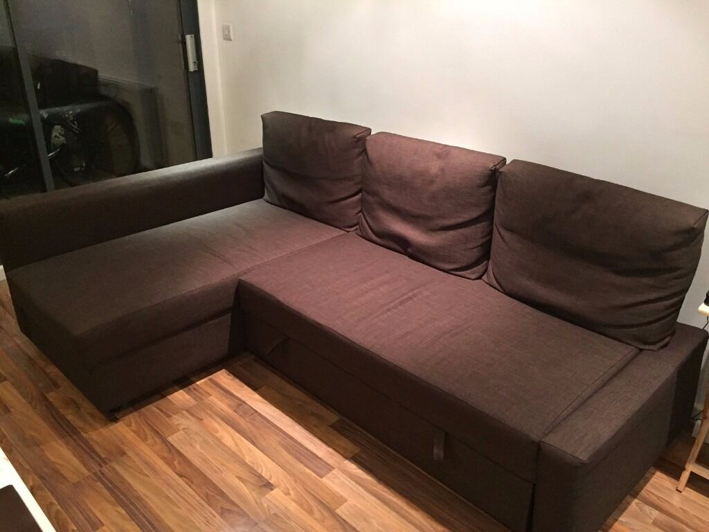 ikea friheten sofa bed dark brown in whitechapel. Black Bedroom Furniture Sets. Home Design Ideas