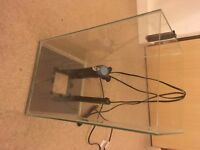 25 litre fish tank with filter and heater, ideal starter tank, 40cm x 25cm x 25cm