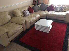 Cream colour corner sofa