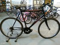 ADULTS/OLDER CHILDS PROFESSIONAL BLACK RUSSIAN BIKE 26 INCH WHEELS 15 SPEED BLACK GOOD CONDITION