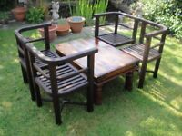 potio chairs and table