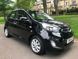 2015 15 KIA PICANTO VR7 1.0 PETROL 5 DOOR HATCHBACK IN STUNNING BLACK