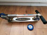 Scooter with spare wheel