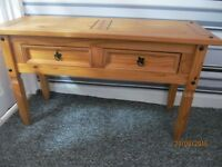 LARGE RUSTIC PINE CONSOLE TABLE IN VERY GOOD CONDITION