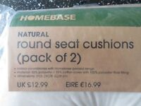 Garden Chair Seat Cushions - Round - and Brand New