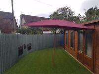 Outsunny parasol 10ft -6ft purple