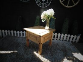 CORONA PINE SIDE/COFFEE TABLE VERY SOLID TABLE AND IT'S IN VERY GOOD CONDITION 59/59/54 cm £25