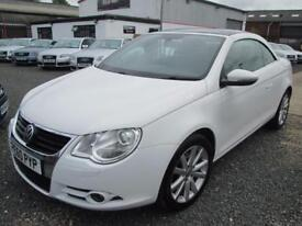 Volkswagen Eos 2.0 TDI CR SE 2dr + PANORAMIC ROOF + FULL VW SERVICE HISTORY (white) 2010