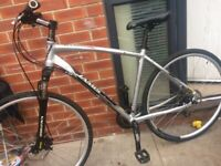 LARGE HYBRID MTB JAMIS ROAD disc brakes highly maintained rides as new never been off road £180
