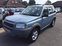 2002/02 LAND ROVER FREELANDER 1.8 GS 5 DOOR BLUE, SERVICE HISTORY,LOOKS AND DRIVES WELL