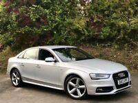 Audi A4 TDI QUATTRO S LINE [SAT NAV / LEATHER / 270 BHP] (floret silver) 2013