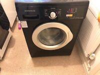 Black daewoo washing machine