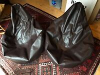 Gaming Chairs (x 2), Bean Bag Bazaar, Brown Faux Leather