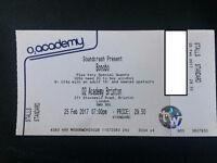 Bonobo tickets 25/02 Brixton Academy x2