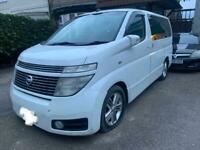 2002 NISSAN ELGRAND E51. 3.5 PETROL. BREAKING FOR PARTS SPARES ONLY. WHITE.
