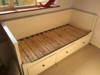 HEMNES IKEA White Day bed with 3 drawers (no mattress included)