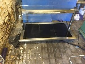 counter top hot food heated display unit