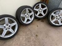 4x Mercedes AMG Replica 18' Alloy Wheels - Need Refurbished