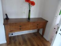 Console table solid oak