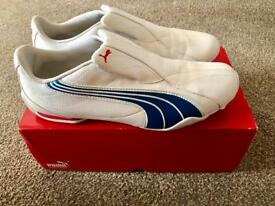 Puma White Navy Red Trainers UK size 8