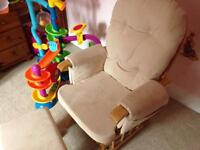 Nursing Rocking Chair with foot stool