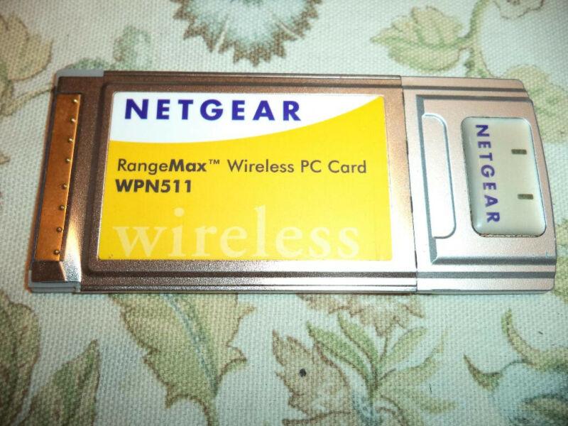 NETGEAR RangeMax Wireless PC Card WPN511 Laptop - New